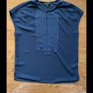 J. Crew lovely sleeveless navy top